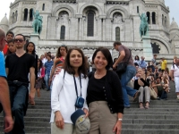 Bette Harris and Marylin Krell in front of Sacre Coeur Paris France Summer 2010