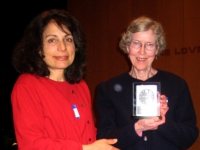 Past President Marie Lewis receiving award at Annual SBRA Meeting 2010 from  Immediate past president Bette Harris